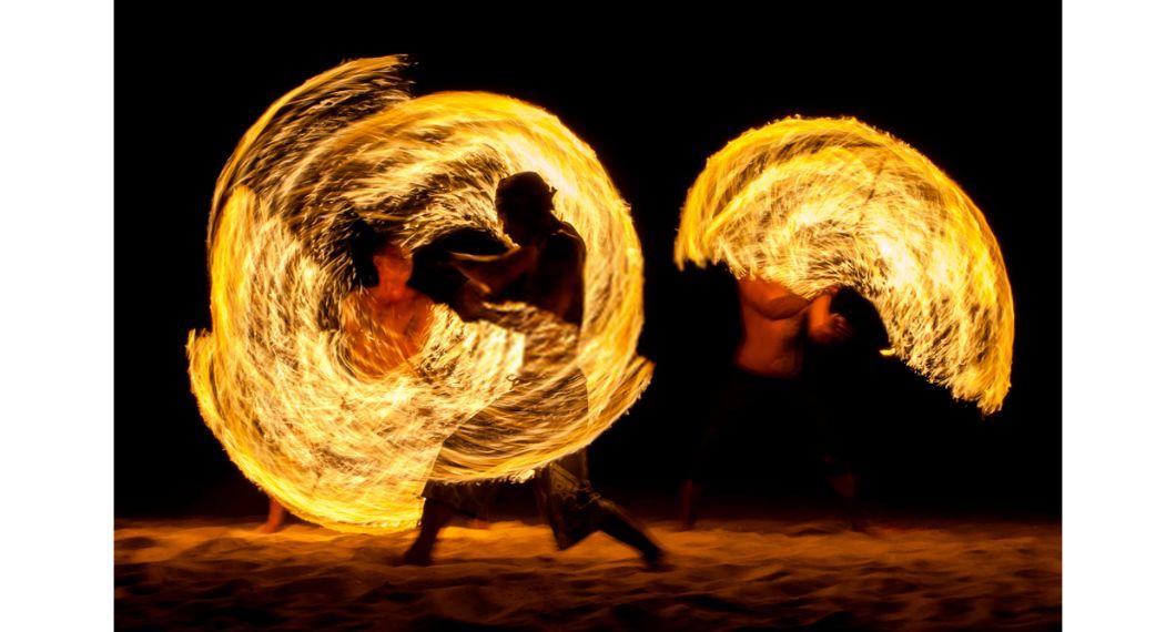 fire show desert safari