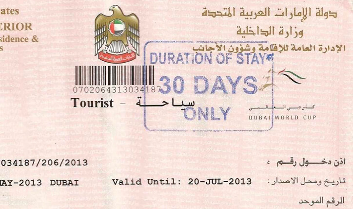 Dubai Tourists Visa
