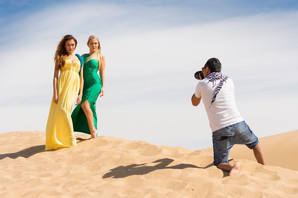 photoshoot in desert