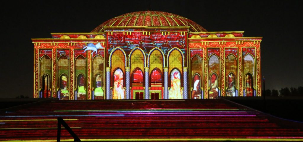 Light Festival Sharjah.